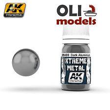Xtreme Metal Dark Aluminum  Metallic Paint 30ml Bottle - AK Interactive 480