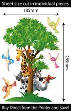 Jungle Tree Animals Reusable Wall Stickers Kids Bedroom Decals Remove & Reuse
