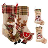 Personalised Christmas Stocking Santa Large Gift Sack Xmas Glitter Stockings NEW