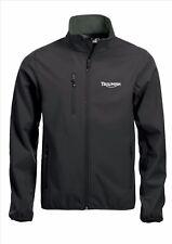 TRIUMPH Softshell Jacket Coat Negro Bordado De Calidad Tamaños S-5XL