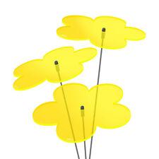 3 Stück SUNPLAY Sonnenfänger Ø10cm Suncatcher Gartenstecker Blumen GELB
