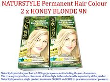 2 x NATURSTYLE Permanent Hair Colourant / Colour - HONEY BLONDE 9N