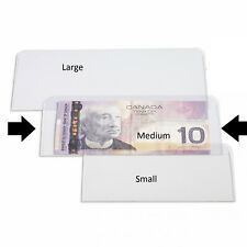 10 Medium Currency Holder Clear Plastic Holder for Banknote fit most modern note