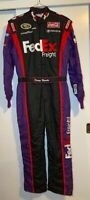 RARE 2008 Denny Hamlin JGR #11 FedEx Race Used Suit & Matching Diecast