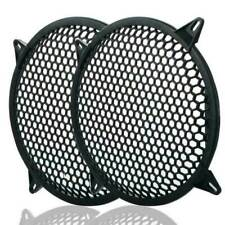 "2PCS 12"" Black Car Speakers Cover Waffle Mesh Woofer Subwoofer Grill Protector"