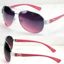 New DG Eyewear Womens Sunglasses Shades Fashion Pilot Pink Silver Retro Designer