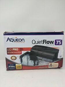 QuietFlow LED PRO Aquarium Power Filters 75- two Large cartridges - 400GPH