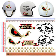 adesivi casco no fear STAMPA SIMIL ORO sticker helmet print gold 7 pz.