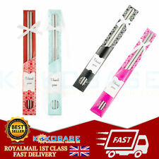 UK 1 Pairs Stainless Steel Chopsticks Chop Sticks Beautiful Chinese Culture Gift