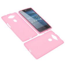 Tasche für Acer Liquid E3 Plus Handytasche Schutz Hülle TPU Gummi Case Pink