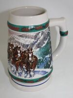 Anheuser Busch Budweiser Clydesdales 1993 Special Delivery Ceramic Stein
