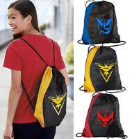 Back to School Pokemon Go Drawstring Bag Kids Adults Sports Gym Sports Backpack