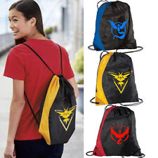 School Drawstring Book Bag Sport Gym Swim Dance Kit Shoe Sports Backpack Unisex