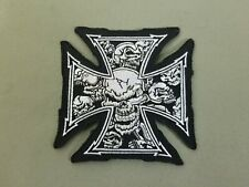 Iron Cross Embroidered Iron On Patch.