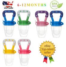 (2 Pack) US Baby Feeding Pacifier Fresh Food Fruits Feeder, (Medium 6-12 Months)