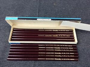 Blue Star 12 Bleistifte 2726 Medium Bohemia Works Pencil Kopierstifte DDR