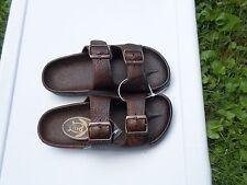 Pali Hawaii Sandals PH438 -MEN'S  BUCKLE 1 PAIR SIZE 11 DARK BROWN