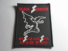 Black Sabbath We Sold Our Soul For Rock N' Roll Woven Patch