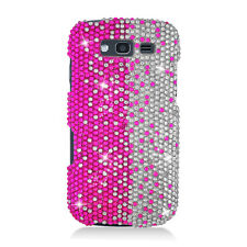 For Samsung Galaxy S BLAZE 4G Crystal Diamond BLING Case Phone Cover Pink White
