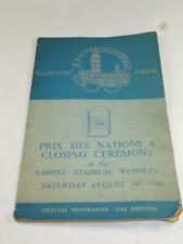 Vintage 1948 Olympics Programme Prix des Nations & Closing Ceremony
