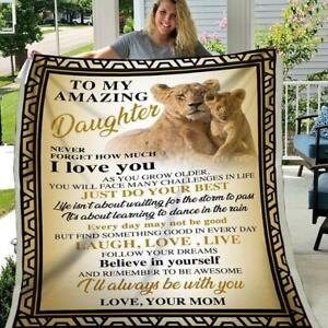 Lion To My Amazing Daughter Never Forget How Much I Love You Sherpa Blanket