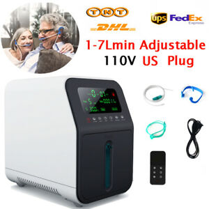 1-7L/min Home Oxygen-Concentrator Generator Machine 30%-90% For Home Use