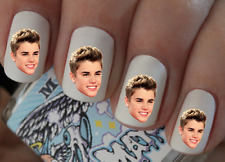 Justin Bieber Nail Art Decals Transfers Stickers Wraps Foils Nail Pedicure X 40