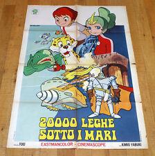 20000 LEGHE SOTTO I MARI manifesto poster Animazione Leagues under the Sea G27