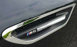BMW Brand M5 F10 2012+ Genuine Fender Side Panel Grilles Vents With Side Markers
