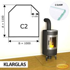 Kamin Glasbodenplatte Funkenschutz Kaminplatte Glas Ofen Platte Bodenplatte - C2