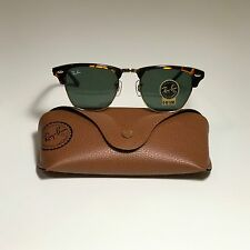 aea2f15c3b7 New Ray-Ban Clubmaster Classic Tortoise RB3016 W0366 49-21 with G15 Green  Lens