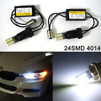 6000K White Error Free BA9s H6W LED Bulbs For BMW F30 3 Series Parking Lights