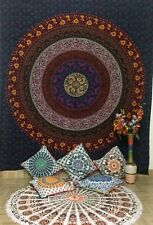 Indian Queen Size Bedding Floral Mandala Tapestry Wall Hanging Bedspread Hippie