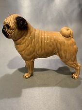 Vintage Ceramic Porcelain Fawn Pug Dog Figurine Shafford Japan #163, 6.5� X 7.5�