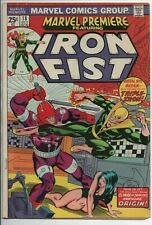 Marvel Premiere #18 Fourth appearance and Origin Climax of Iron Fist 1974 Fn