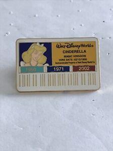 Disney Pins WDW Cast ID Badge/Card Cinderella