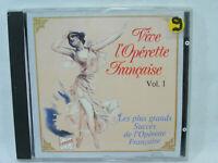 VIVE l'OPÉRETTE FRANCAISE vol.1 1991 CD Chanson operette opéra