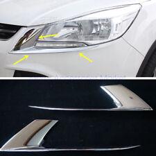 New Chrome Head Light Trim Eyelid For Ford Escape 2013 2014 2015 2016