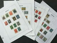 HOLLAND 1948-1951, CV 130 euros, 4 album pages,  64 stamps, MLH* and used
