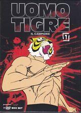 7 Dvd Box Set Cofanetto L' UOMO TIGRE - TIGER MASK vol. 01 nuovo sigillato
