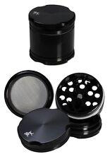 BLACK LEAF new edge grinder in alluminio 4 pezzi 38mm SETACCIO ALLUMINIO Mulino Spezie Nero