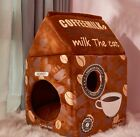 New Cute Pet Dog Cat House Beds Kennel Tent Cushion Puppy Kitty Indoor house