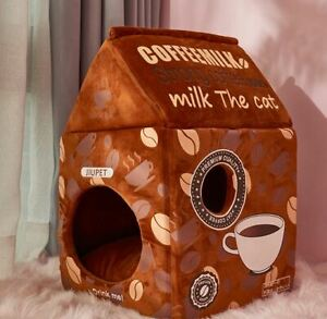 Pet Dog Cat House Beds Kennel Tent Cushion Puppy Kitty Indoor Coffee house
