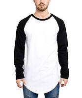 Phoenix Basic Oversize Baseball T-Shirt Longshirt Black Extended Tee Herren Men