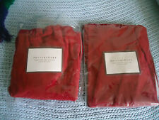 2 Pottery Barn Megan Side chair Slipcover Cranberry Red Canvas  100% Cotton MIB