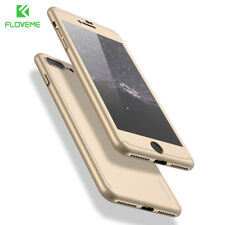 FLOVEME® Full Body Phone Case Cover With Tempered Glass iPhone Samsung Xiaomi