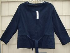 NWT Theory SAHAD Jacket BLACK INDIGO, CRUNCH size 12 retail $295