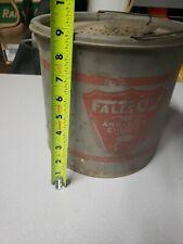 Vintage Falls City #410 Dylite Float Metal Minnow Bucket.