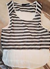 Wish Size 12/14 M/L Black & White Top