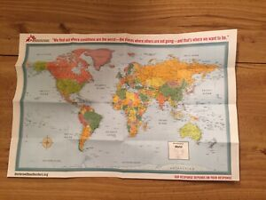 Rand McNally World Map Doctors Without Borders - New Folded Map
